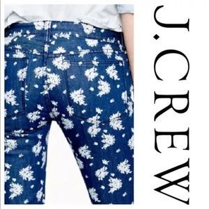 J. CREW cropped matchstick floral pants jeans  A3